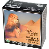 Light Mountain Natural Color & Conditioner Dark Brown